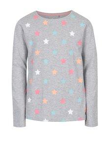 Sivé melírované tričko s potlačou hviezd 5.10.15.