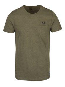 Khaki tričko s náprsní kapsou Blend