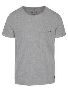 Sivé tričko s náprsným vreckom Blend