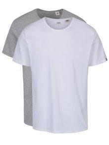 Sada dvou basic triček v bílé a šedé barvě Levi's®