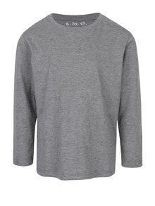 Sivé chlapčenské melírované tričko s dlhým rukávom 5.10.15.
