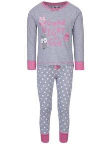 Sivé dievčenské pyžamo s potlačou 5.10.15.