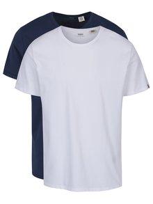 Sada dvou basic triček v bílé a modré barvě Levi's®