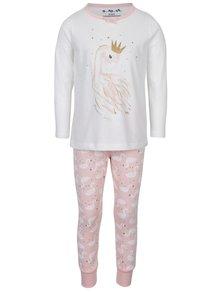 Krémovo-ružové dievčenské pyžamo 5.10.15.