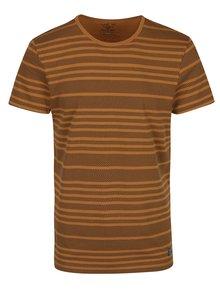 Hnědé pruhované tričko Blend