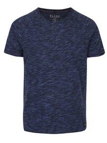 Tmavě modré žíhané tričko Blend