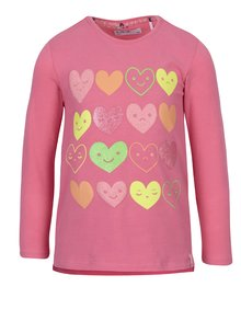 Ružové dievčenské tričko s potlačou srdiečok 5.10.15.