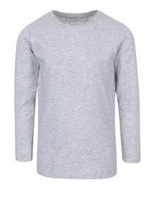 Svetlosivé dievčenské melírované tričko s dlhým rukávom 5.10.15.
