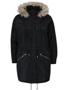 Jachetă neagră parka Dorothy Perkins Curve