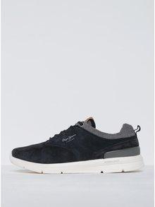 Pantofi sport bleumarin din piele întoarsă pentru bărbați Pepe Jeans Jayden