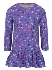 Fialová dievčenská vzorovaná tunika s dlhým rukávom 5.10.15.
