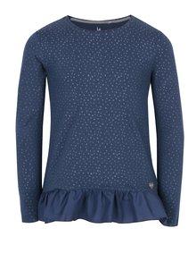 Tmavomodré dievčenské vzorované tričko 5.10.15.