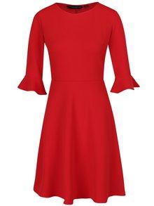 Rochie roșie cu mâneci 3/4 și volane  Dorothy Perkins