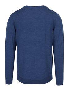 Modrý ľahký sveter z merino vlny Selected Homme Tower