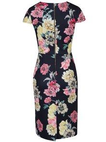 Tmavomodré puzdrové šaty s kvetinovou potlačou Dorothy Perkins