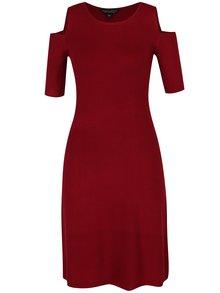Rochie roșie tricotată cu decupaje pe umeri Dorothy Perkins