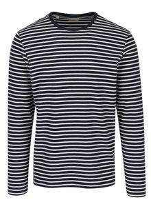 Bílo-modré pruhované tričko Selected Homme Favorite
