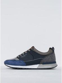 Sivo-modré pánske tenisky Pepe Jeans Boston 2.0