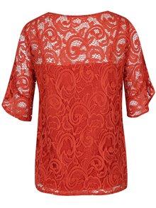 Bluză din dantelă portocalie Dorothy Perkins