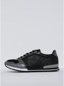 Pantofi sport negrcu cu argitniu  Pepe Jeans Gable Top