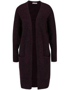 Cardigan lung violet cu amestec de lână și mohair Selected Femme Livana