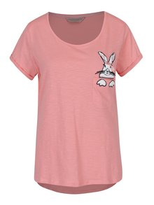 Růžový vrchní díl pyžama s výšivkou Dorothy Perkins
