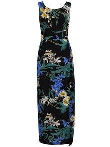 Čierne maxišaty s kvetovanou potlačou Dorothy Perkins