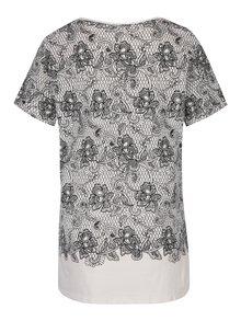 Tricou crem cu print floral negru Dorothy Perkins