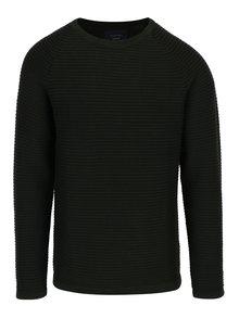 Tmavozelený rebrovaný sveter Jack & Jones Wind