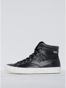 Pantofi sport tip gheată negri pentru femei  Pepe Jeans Clinton Sally