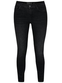 Černé žíhané skinny džíny ONLY Shape