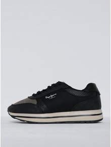 Pantofi sport negru cu crem cu platformă pentru femei  Pepe Jeans Sally Sky