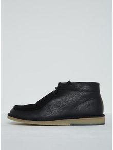 Tmavě modré kožené kotníkové boty Selected Homme Ronni