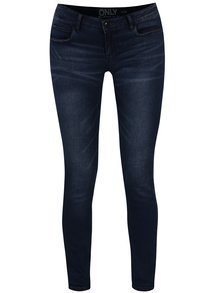 Tmavě modré skinny džíny s nízkým pasem a vyšisovaným efektem ONLY Coral