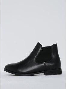 Čierne kožené chelsea topánky Selected Femme Beathe