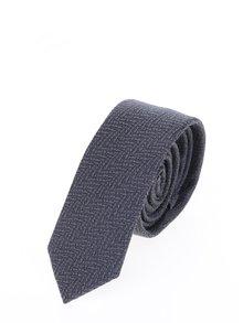 Šedá vzorovaná kravata Selected Homme New