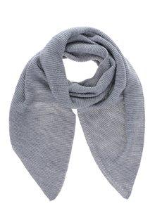 Eșarfă gri deschis tricotată VERO MODA Misty