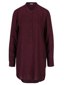 Vínová dlouhá košile Jacqueline de Yong Safira