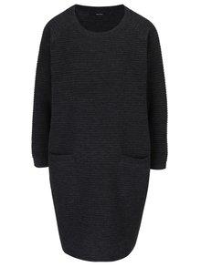 Rochie pulover gri închis cu buzunare VERO MODA Natascha