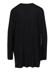 Bluză neagră asimetrică din jerseu cu drapaje VERO MODA Honie