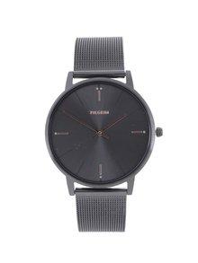 Sivé hodinky s kovovým remienkom Pilgrim