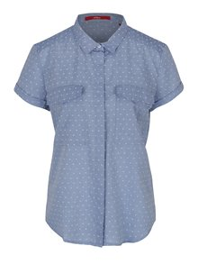 Modrá dámská puntíkovaná košile s kapsami s.Oliver