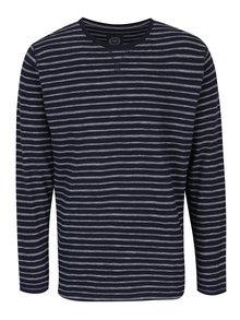 Tmavě modré pruhované tričko s dlouhým rukávem Lindbergh
