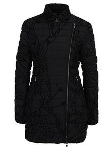 Čierny prešívaný kabát Desigual Osamim