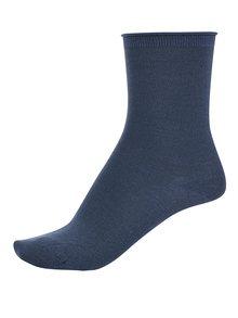 Modré ponožky s ligotavými odleskmi Selected Femme Lucy