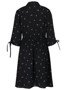 Černé vzorované šaty VERO MODA Adriana
