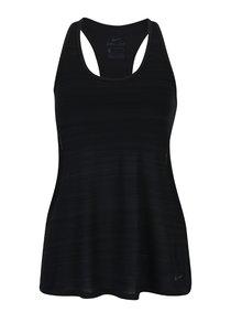 Čierne dámske melírované funkčné tielko 2v1 Nike