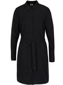 Čierne košeľové šaty VERO MODA Amy