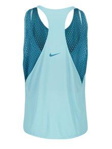 Svetlomodré dámske funkčné tielko so sieťkovanou vnútornou časťou Nike