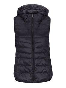 Čierna prešívaná tenká vesta s kapucňou ONLY Tahoe
